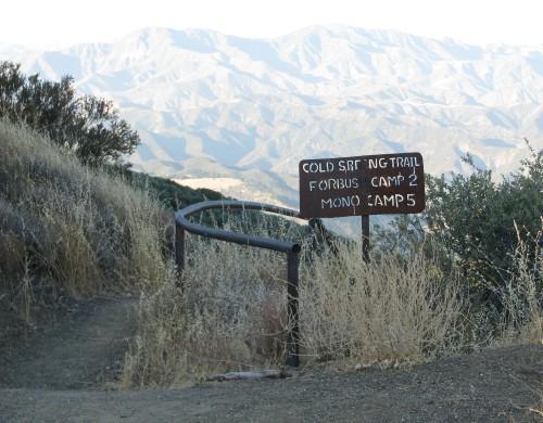 Los Padres National Forest Santa Barbara Backcountry Hike Camino Cielo Forbush Flats Cold Springs Trail