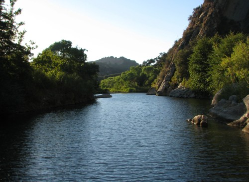 Los Padres National Forest Santa Barbara day hike Santa Ynez River Red Rock Swim hole Gibraltar dam