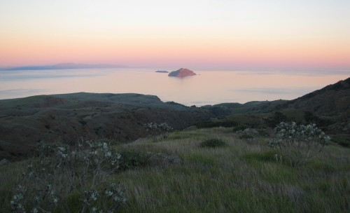 Santa Cruz Island Channel Islands National Park Montanon Trail Sunset Anacapa