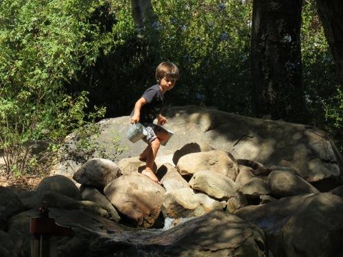 Santa Barbara Museum of Natural History backyard water course