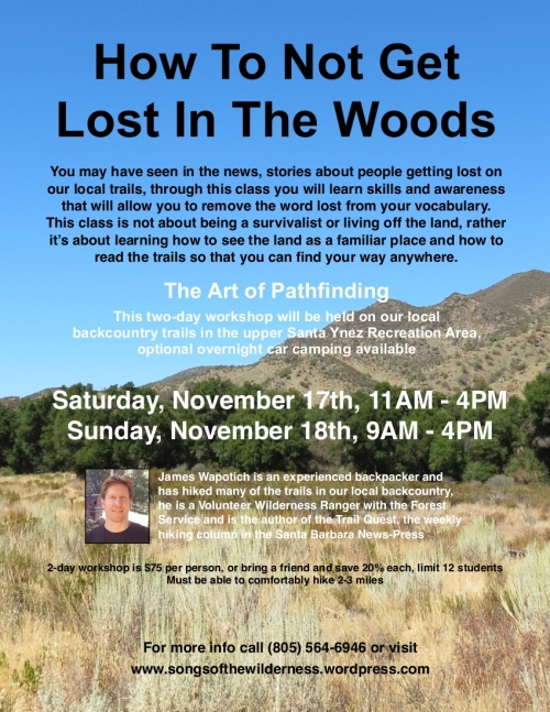 Los Padres National Forest Interpretive Hike Day Trail