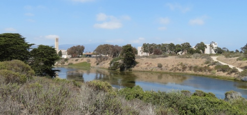 UCSB University California Santa Barbara hike trail Goleta Campus Lagoon