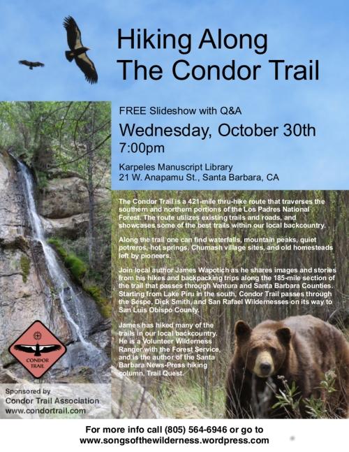 Los Padres National Forest Condor Trail Santa Barbara backpacking hiking hike
