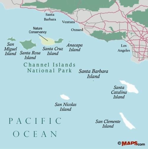Santa Barbara Island trail hike camp Channel Island National Park map