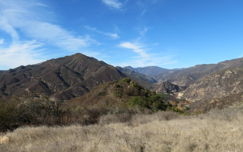 Cozy Dell Trail Ojai day hike Topatopa Mountains Nordhoff Ridge Los Padres National Forest