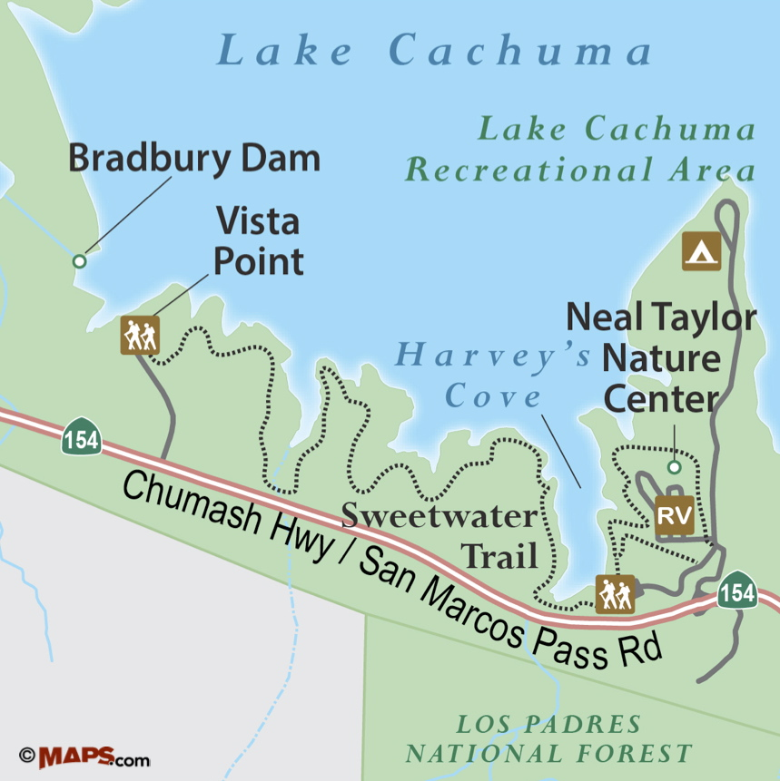 Trail quest cachuma lake s sweetwater trail songs of for Lake cachuma fishing report