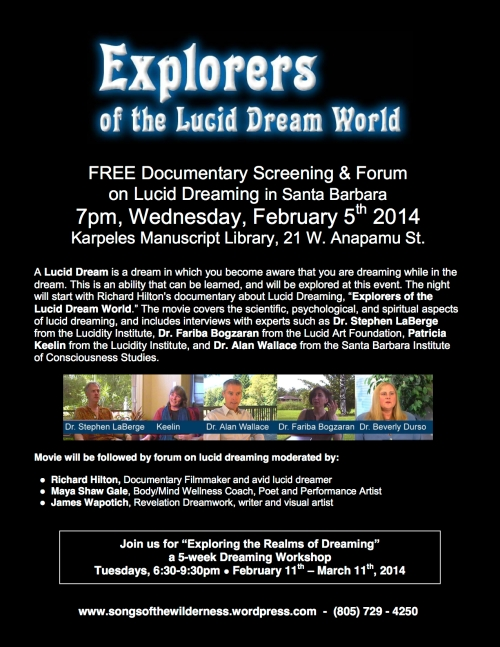 Lucid Dreaming workshop Santa Barbara documentary lucidity