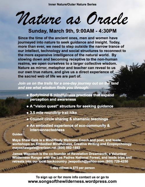Vision Quest Ecopsychology Los Padres National Forest Santa Barbara workshop