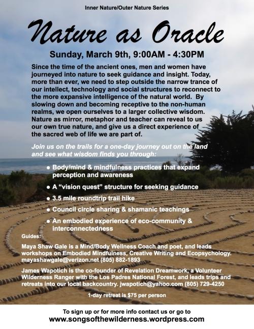 Vision Quest Ecopsychology Los Padres National Forest Santa Barbara workshop