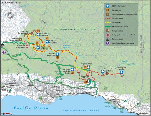 Santa Barbara 100 endurance race trail run running 100K 100 miles miler DRTE