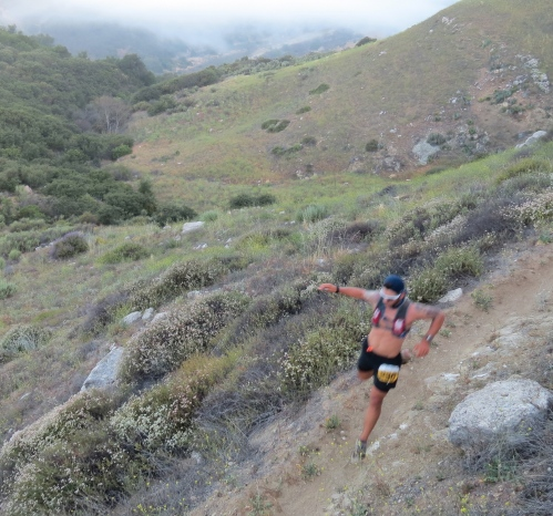 Santa Barbara trail run runners  los padres national forest