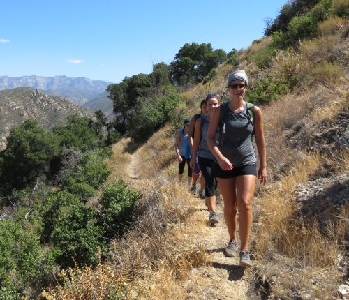 Xtreme Hike Los Padres National Forest hiking Santa Barbara Santa Cruz Trail