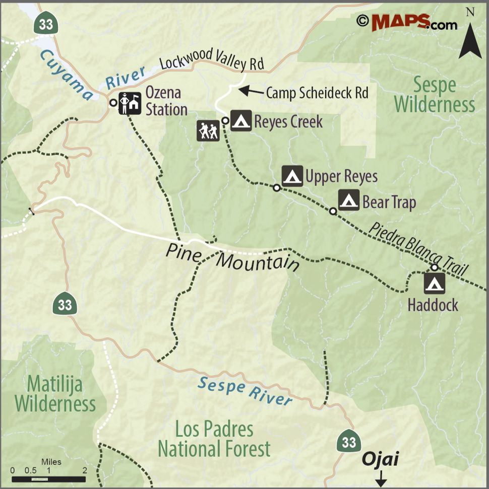 Los Reyes County Arizona Map.Trail Quest Reyes Creek Songs Of The Wilderness