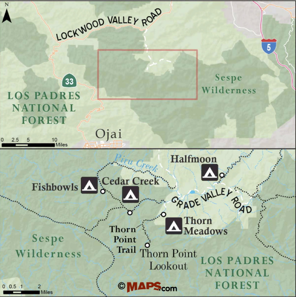 Reyes Creek Campground Site Map