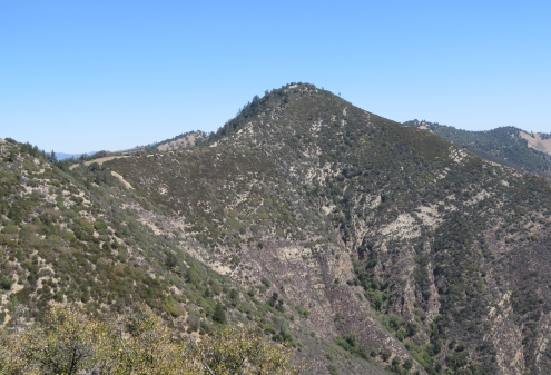 Zaca Peak hike Grass Mountain Trail Los Padres National Forest Midland School