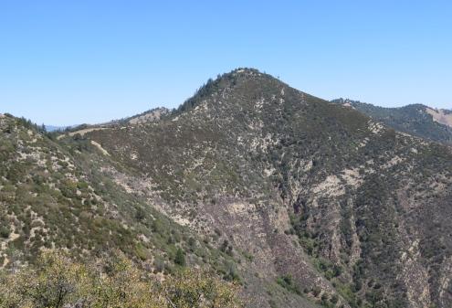 Zaca Peak hike Grass Mountain Trail Los Padres National Forest Midland School