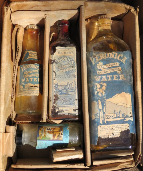 Veronica Springs Medicinal Water Company vintage bottles Arroyo Burro Open Space Campanil Hill
