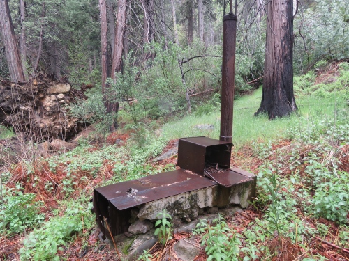 Hartman Brothers stove upper bear los padres national forest hunting camp san rafael wilderness sisquoc river trail hiking backpacking