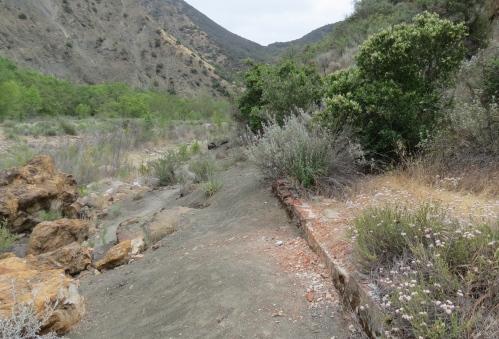 Furnace foundation los prietos quicksilver mercury mine Santa Ynez River hike trail Jose Moraga Los Padres national forest