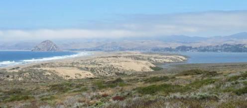 Shark Inlet Morro Bay sandspit Morro Rock A-Line Trail hike Montaña de oro