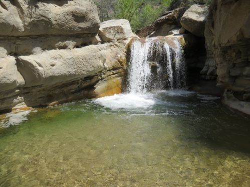 Santa Cruz Falls trail hiking backpacking San Rafael Wilderness Los Padres National Forest
