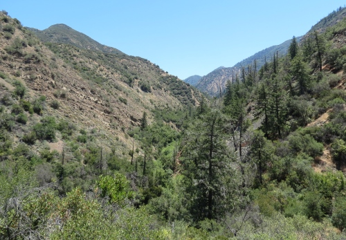 East Fork Santa Paula Creek trail hiking backpacking punch bowls