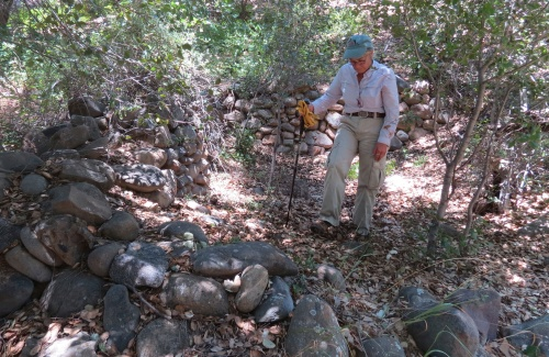 Root Cellar Lucien Forrester homestead Sisquoc River San Rafael Wilderness Los Padres National Forest Joan Brandoff archeology survey