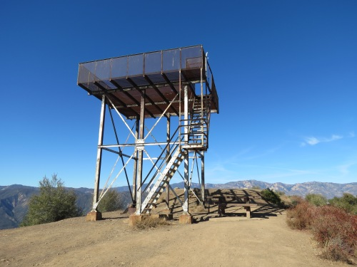 Nordhoff Lookout Tower Camp ridge ojai hike jeep Los Padres National Forest
