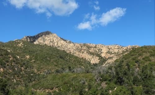 Arlington Peak Dragon's Back Mission Canyon Cathedral La Cumbre hike trail Santa Barbara Los Padres National Forest