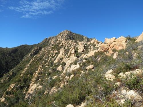 Arlington Peak Dragon's Back Cathedral La Cumbre hike trail Santa Barbara Los Padres National Forest