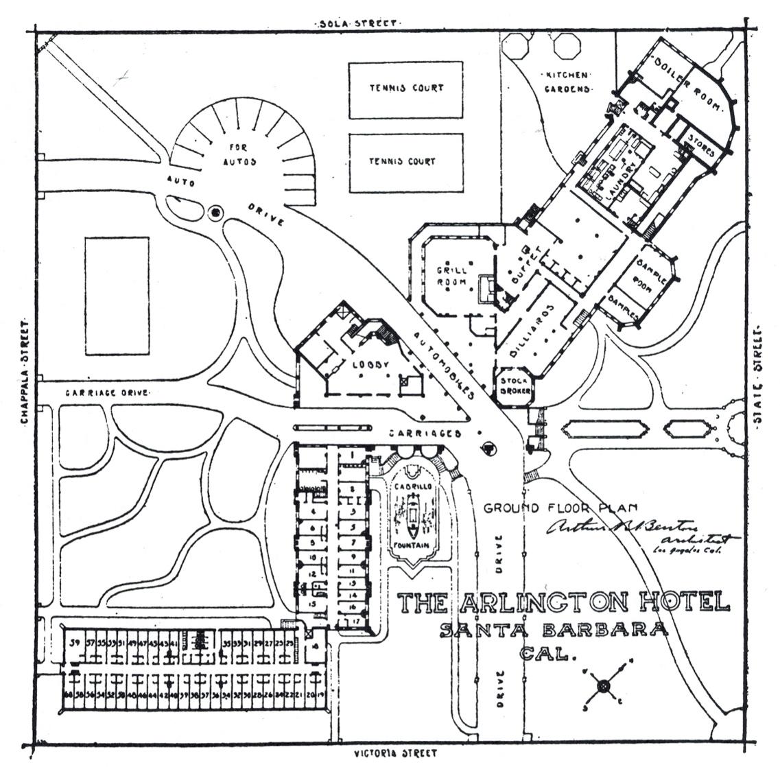 layout rebuilt arlington hotel santa barbara