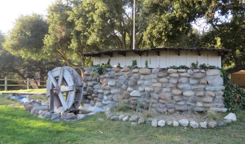 decorative water wheel Hans Christian Andersen Park hiking trail solvang santa ynez valley