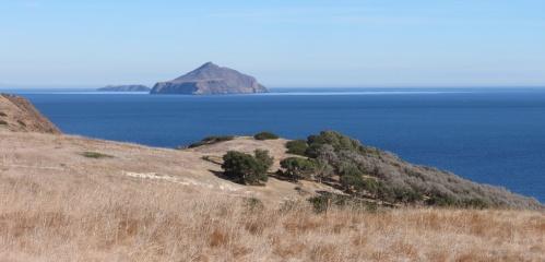 Western Anacapa from Santa Cruz Island Smugglers Road Cove hike trail Channel Islands National Park