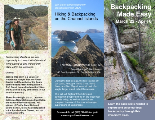 Backpacking class santa barbara hiking trails los padres national forest backcountry adventuring