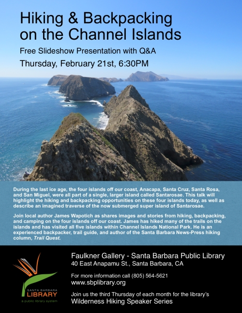 Hiking & Backpacking Channel Islands National Park Anacapa Santa Cruz Santa Rosa San Miguel