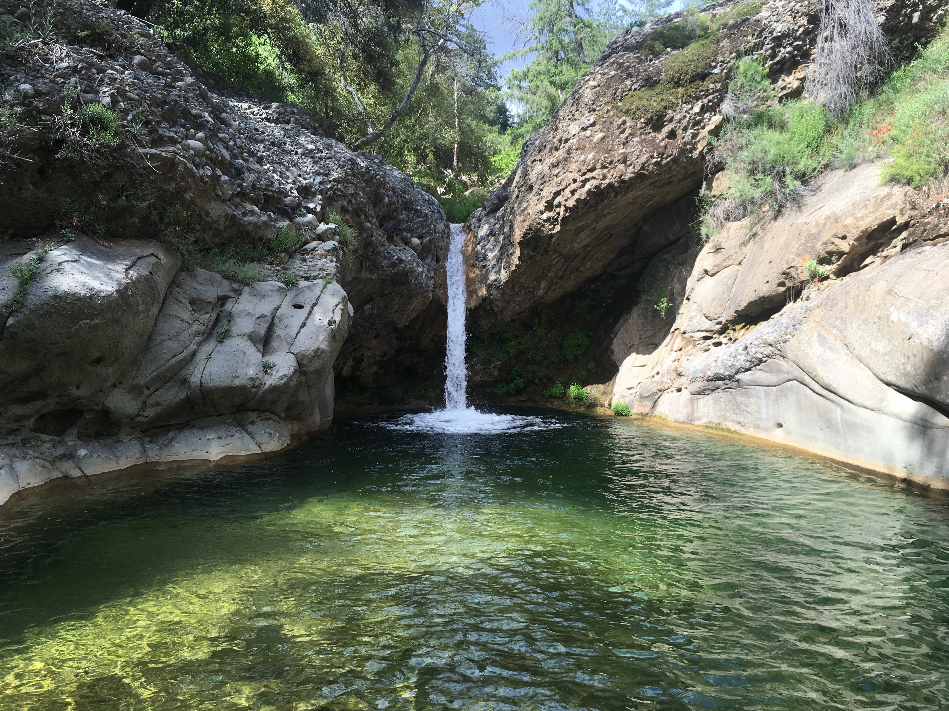 Perfect 10 Indian Creek Canyon waterfall hiking backpacking Dick Smith Wilderness Los Padres National Forest