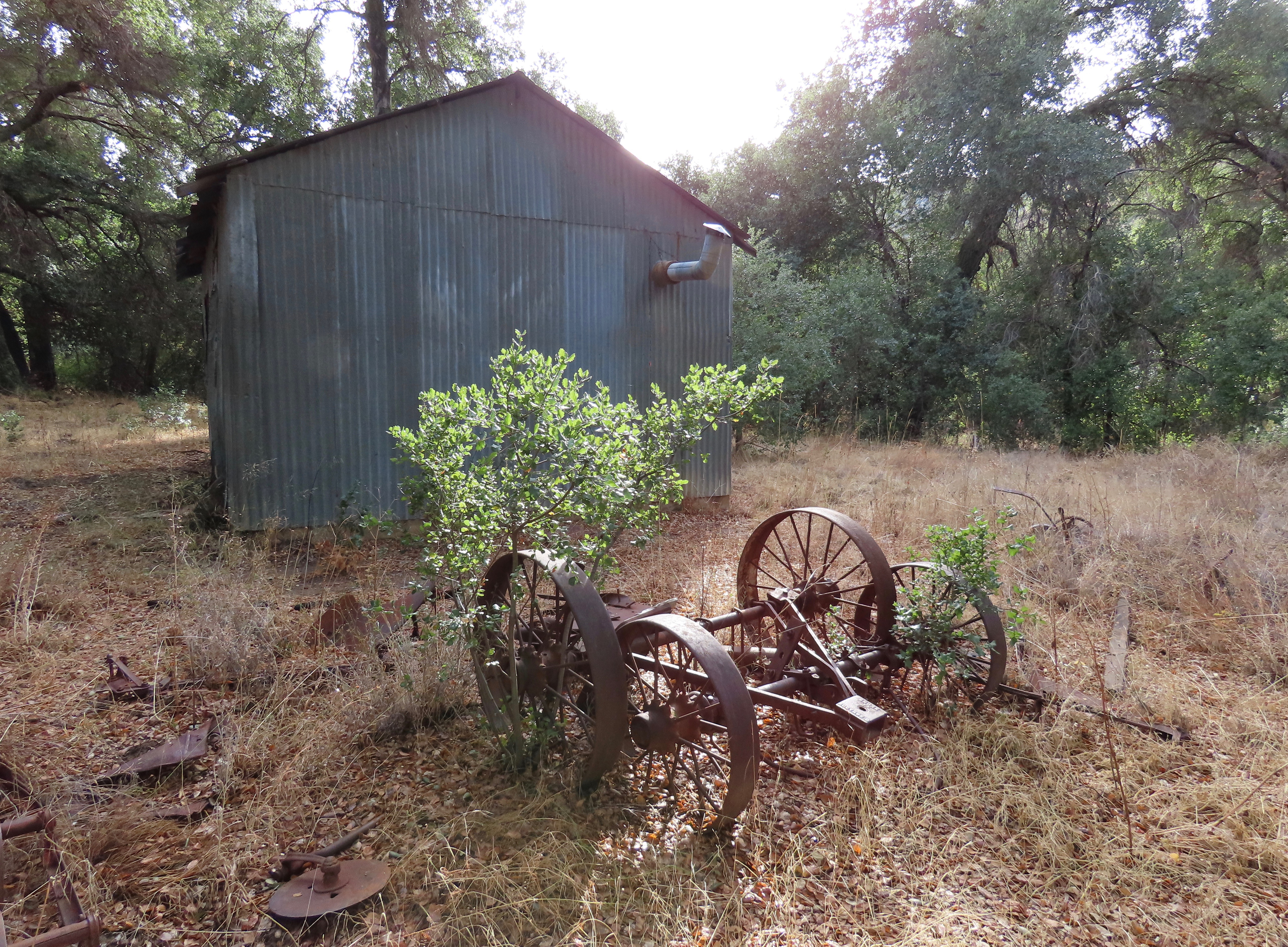 old farm equipment whitaker homestead pothole springs sespe wilderness los padres national forest